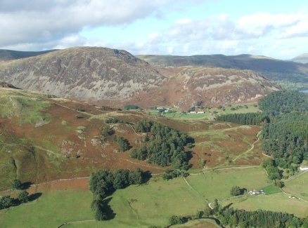 Helvellyn Cottages from St Sunday Crag